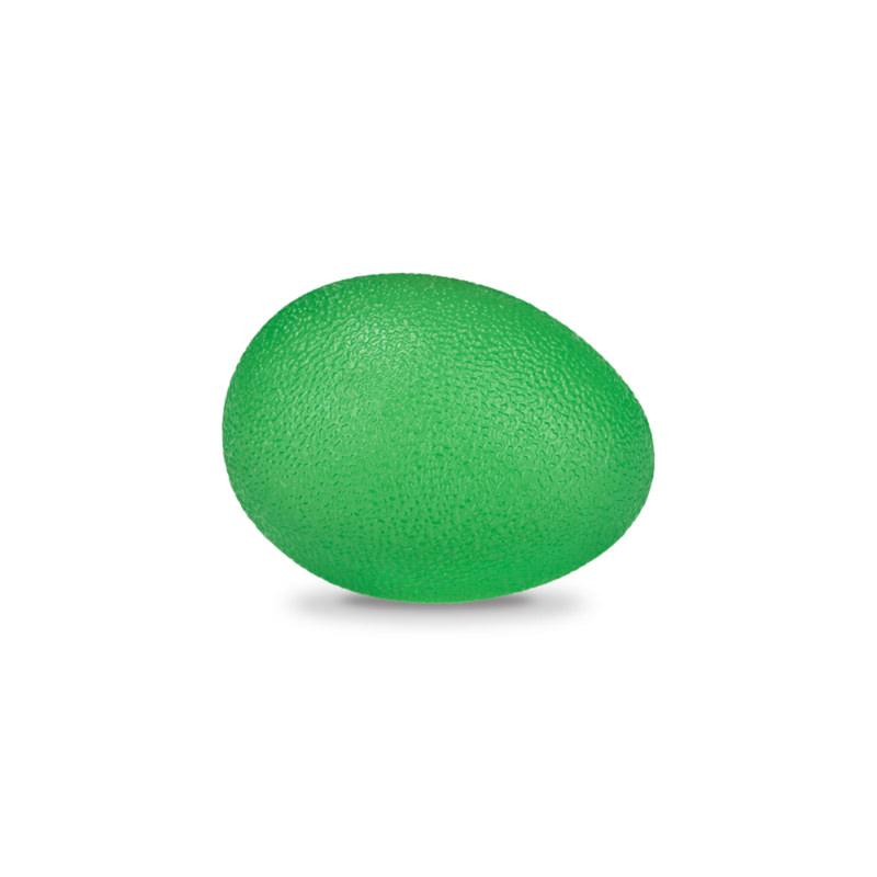 Мяч для тренировки кисти яйцевидной формы полужесткий зеленый