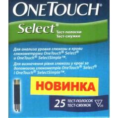 Тест-полоски OneTouch Select №25
