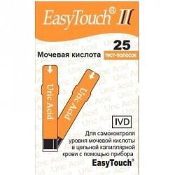 Тест-полоски EasyTouch мочевая кислота №25