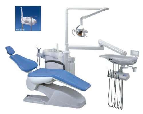 Установка стоматологическая мод. TOP-301 обивка кресла — НАТУРАЛЬНАЯ КОЖА (нижняя подача инструмента)
