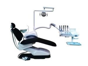 Установка стоматологическая мод. TOP-308 — обивка кресла НАТУРАЛЬНАЯ КОЖА (верхняя подача инструмента)