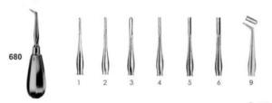 Элеватор зубной №680 (Пакистан) разных форм