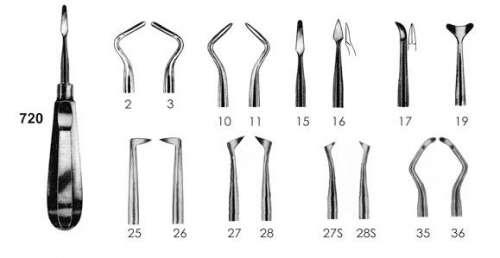 Элеватор зубной №720 (Пакистан) разных форм