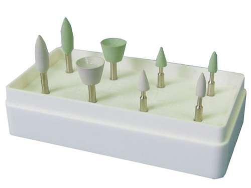 Головки шлифовальные эластичные цветокодированные для композитов №2 (8 шт) (Целит) 1.7.2.2
