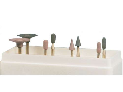 Головки шлифовальные эластичные цветокодированные с алмазным наполнением №2 (8 шт) (Целит) 1.7.1.2