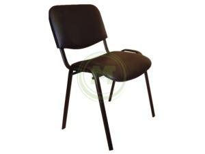 Офисный стул ИЗО АМ 1003 (к/з черный, каркас черный)