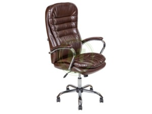 Офисное кресло AV 118 CH CX экокожа шоколад