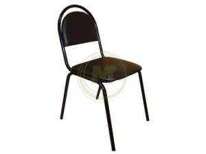Офисный стул СМ 8 V4 (к/з черный, каркас черный)