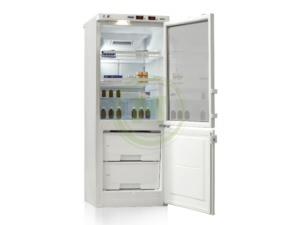 Холодильник лабораторный Позис ХЛ-250 (двери тон. стекло/металл)
